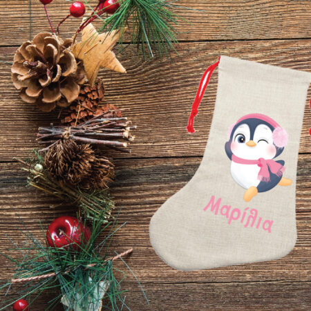 Christmas Linen Stocking